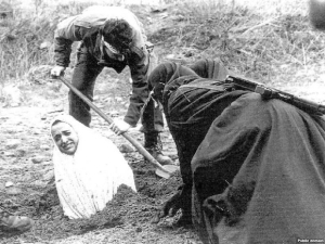 Preparation for Stoning in Iran